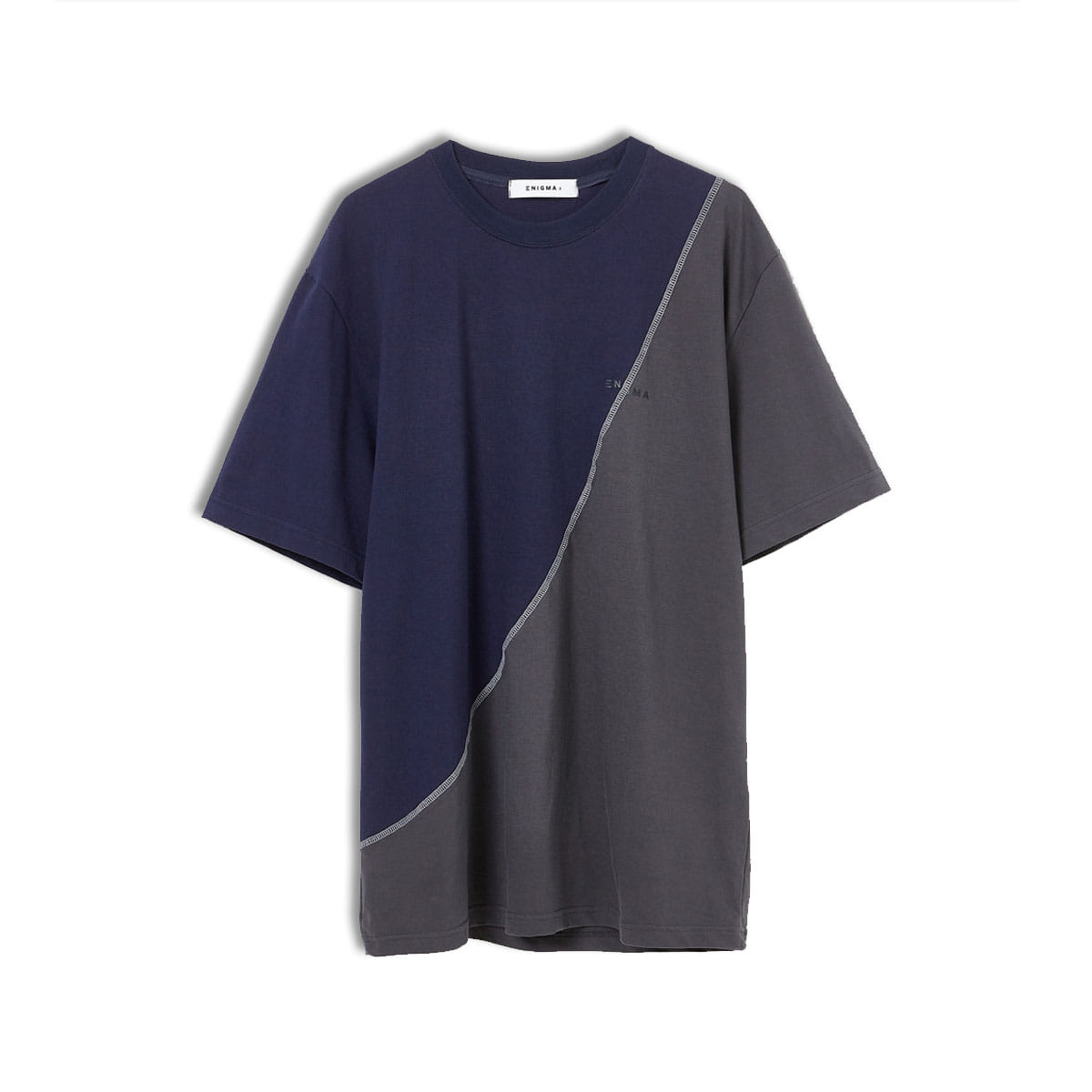[ENIGMA] REWORK T- SHIRT 'NAVY/CHARCOAL'