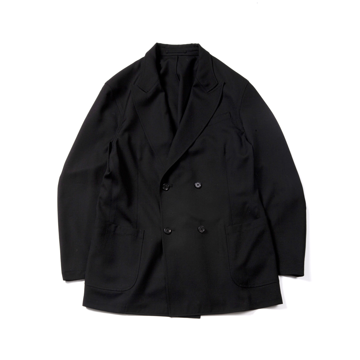 [BROWNYARD] UTILITY DOUBLE BREASTED JACKET 'BLACK'