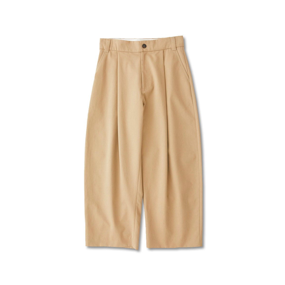 [STUDIO NICHOLSON] VOLUME PLEAT PANTS 'TAN'